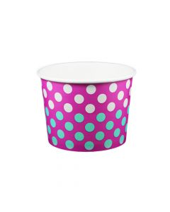 Yocup 16 oz Contrast Pink Color Changing Cold/Hot Paper Food Container - 1 case (1000 piece)