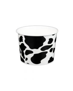 Yocup 16 oz Dairy Print Cold/Hot Paper Food Container - 1 case (1000 piece)