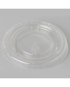 Yocup 0.75-1 oz Clear Plastic Flat Lid With No Hole For Plastic Portion Cups - 1 case (2500 piece)