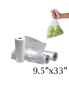 "Yocup 33"" x 9.5"" Clear HDPE Plastic Produce Bag - 1 case (2000 piece)"