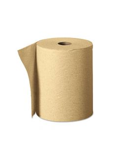 Yocup 350' Natural Brown Kraft Roll Paper Towel - 1 case (12 roll)