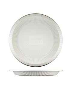 """Yocup 9"""" Beige Eco-Friendly Cornstarch Round Plate - 1 case (500 piece)"""