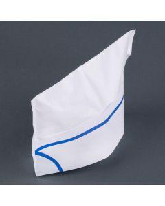 Yocup Disposable Paper Oversea Cap, Blue Stripe - 100 piece box