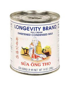 Longevity Sweetened Condensed Milk 14 oz Can - 1 case (24 can)