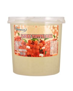 Ohsweet Lychee Flavored Topping Boba 7 lb Jar - 1 case (4 jars)