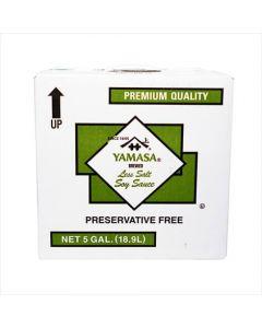 Yamasa Less Sodium Soy Sauce 5 Gallon Box - 1 case (1 box)