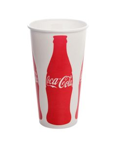 "Karat 32 oz ""Coca-Cola"" Paper Soda Cup - 1 case (600 piece)"