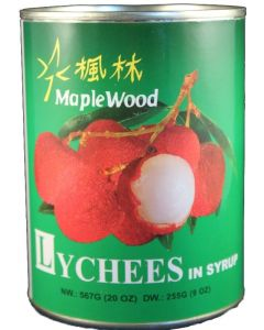 Maplewood Whole Lychee In Syrup 20 oz Can - 1 case (24 can)