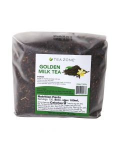 Tea Zone Golden Milk Tea Loose Leaves 8.5 oz Bag - 1 case (25 bag)