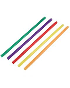 "Yocup 9"" Giant (8mm) Assorted Film-Wrapped Plastic Straw - 1 case (2000 piece)"