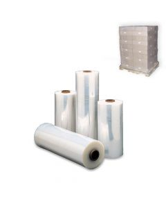 "Yocup 18"" x 1500' Clear 65 Gauge (0.65mil) Stretch Wrap Roll - 1 case (4 roll)"