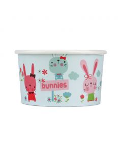 Yocup 5 oz Bunnies Cold/Hot Paper Food Container - 1 case (1000 piece)