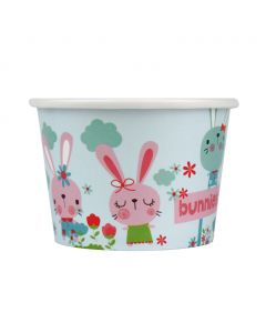 Yocup 8 oz Bunnies Cold/Hot Paper Food Container - 1 case (1000 piece)
