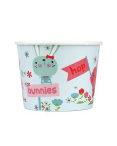 Yocup 12 oz Bunnies Cold/Hot Paper Food Container - 1 case (1000 piece)