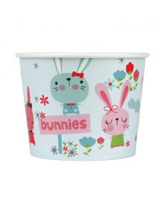Yocup 16 oz Bunnies Print Cold/Hot Paper Food Container - 1 case (1000 piece)