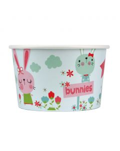 Yocup 20 oz Bunnies Cold/Hot Paper Food Container - 1 case (600 piece)