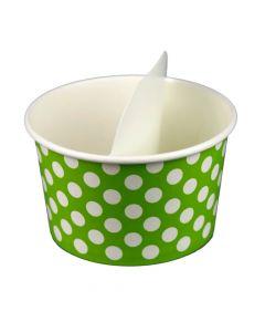 Yocup 20 oz White Paper Flavor Divider - 1 case (1000 piece)