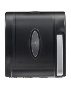 Georgia-Pacific Push-Paddle Hardwound Roll Paper Towel Dispenser, Smoked - 1 case (1 piece)