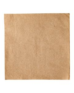 "Karat 9"" x 9"" Kraft / Natural Brown 2-Ply Cocktail Napkin - 1 case (4000 piece)"