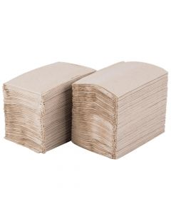 "Yocup Brown 2-Ply Table Top Dispenser Napkin (8.9""x6.5"")  - 1 case (6000 piece, 24/250)"