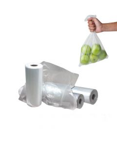 "Yocup 13"" x 22"" Clear HDPE Plastic Produce Bag (15 mic) - 1 case (1000 piece)"