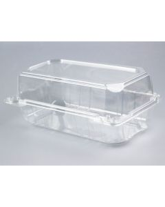 "Yocup 9'' x 5"" x 3.5"" Clear PET Plastic Hinged-Lid Take Out Container - 1 case (250 piece)"