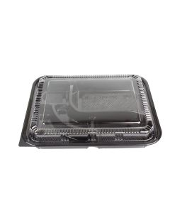"Yocup #306 Black 5 Compt Bento Box With Lid Combo (10.5"" x 8.5"" x 2.10"") - 1 case (200 set)"