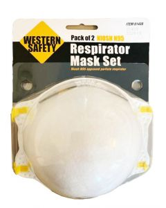 Western Safety NIOSH N95 Respirator Mask Set  - Pack of 2