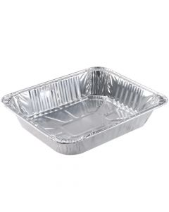 "Kari-Out 1/2 Size Foil Steam Table Pan, Deep (2.5"") - 1 case (100 piece)"