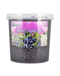 Ohsweet Blueberry Flavored Topping Boba 7 lb Jar - 1 case (4 jars)