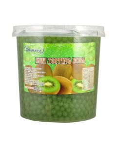 Ohsweet Kiwi Flavored Topping Boba 7 lb Jar - 1 case (4 jars)