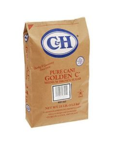 C&H Golden C Pure Cane Medium Brown Sugar 25 lb bag - 1 bag