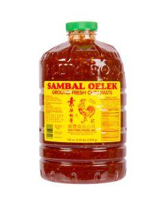 Huy Fong Sambal Oelek Chili Paste 136 oz (8.5lb) Jar - 1 jar