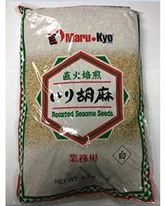 Marukyo Roasted White Sesame Seed 2.2 lb Bag - 1 bag