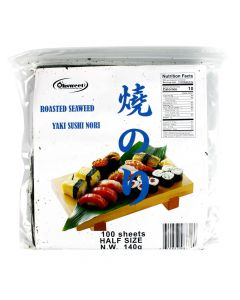OHSWEET Roasted Seaweed (Yaki Sushi Nori), Full Size - 50 sheets bag (4.94 oz/140g)