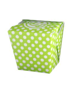 Yocup 26 oz Polka Dot Green Microwavable Paper Take Out Container - 1 case (400 piece)