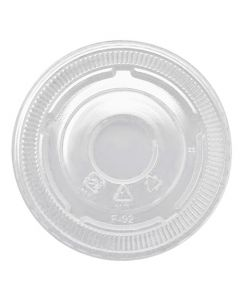 Yocup 92mm Clear Plastic Flat Lid With No Hole For PET Cups (92mm) - 1 case (1000 piece)