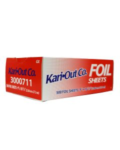 "Kari-Out 9"" x10.75"" Food Service Interfolded Pop-Up Foil Sheets - 500 piece box"