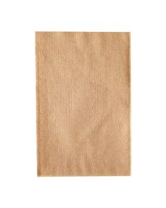 Karat Kraft / Natural Brown 2-Ply Table Top Dispenser Napkin - 1 case (6000 piece)