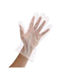 Yocup Powder-Free Clear Poly (PE) Disposable Food Service Gloves, Medium - 1 case (10000 piece)
