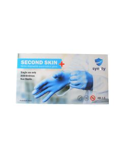 Second Skin Nitrile Blue Gloves (Powder Free) Medium Size - 1000/cs