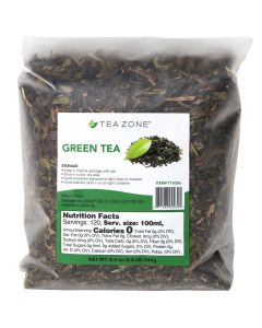 Tea Zone Green Tea Leaves 8.46 oz Bag - 1 case (25 bag)