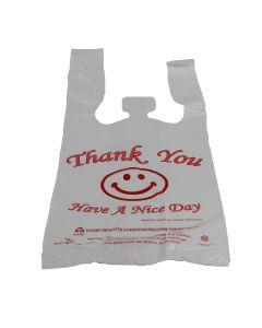 "Generic  ""Thank you"" Plastic T-Shirt Bag - Medium - 1 case (700 piece)"
